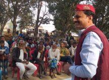 सपाइयों के कृषक चौपाल व सहभोज में नये किसान कानून पर कड़ा प्रहार