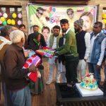 समर्थकों ने गरीबों में कम्बल व फल वितरण कर बसपा नेता अरशद खुर्सीद का मनाया जन्म दिन