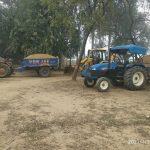 पुलिस ने अवैध मिट्टी खनन में लगी दो ट्रैक्टर ट्राली व जेसीबी मशीन को मौके से पकड़ा