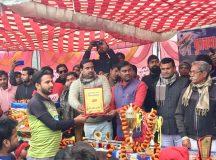 शहीद क्रिकेट टूर्नामेंट का फाइनल लुम्बिनी  टीम ने जीता और जमाया ट्राफी पर कब्जा